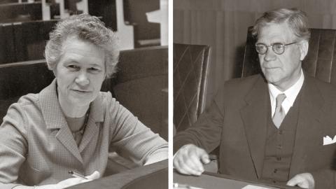 Inga Thorsson och Östen Undén. Foto: Freddy Lindström/TT och TT.