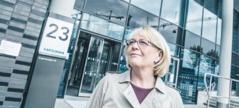 Finanslandstingsrådet Irene Svenonius (M) besöker Nya Karolinska i Solna.  Lars Pehrson/SvD/TT