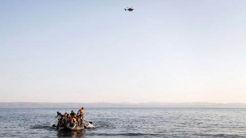 Vad är det som gör att människor bryter upp och flyr, trots de risker som finns? Samtal på Sjöfartsmuseet. Foto: Linus Sundahl-Djerf/SVD/TT