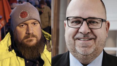 Erik Helgeson och Karl-Petter Thorwaldsson. Bilder: Adam Ihse/TT, Hilda Arnaback