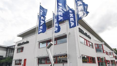 Ikea of Swedens huvudkontor i Älmhult, som också var platsen för företagets första varuhus 1958.  Bild: Johan Nilsson/TT