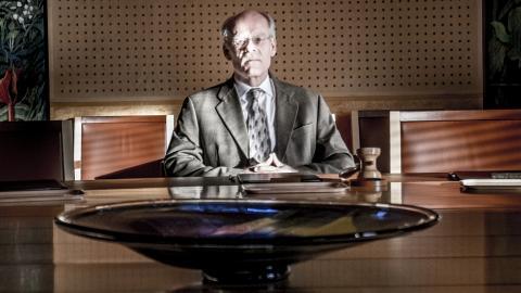 Riksbankschef Stefan Ingves i direktionsrummet på Riksbanken. Bild: Magnus Hjalmarsson Neidemann/SvD/TT