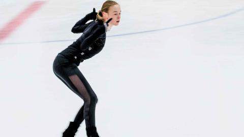 Anita Östlund tävlade med sitt kortprogram i EM i Moskva i januari och kom 6:a. Foto: Adam Ihse / TT