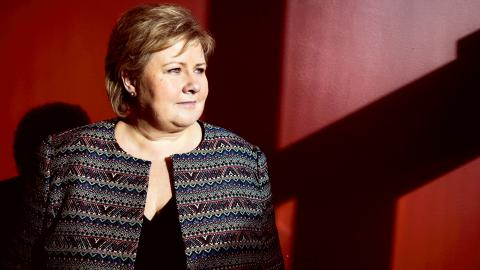 Norges statsminister Erna Solberg.  Bild: Tore Meek/NTB Scanpix/TT