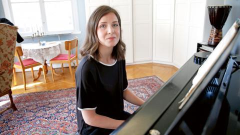 """Vanessa Liftig är aktuell med nya skivan 'Göteborgs pyramider'."""" Bild: Christian Egefur"""