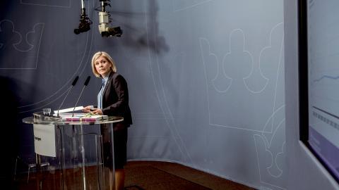 Finansminister Magdalena Andersson (S). Bild: Malin Hoelstad/SvD/TT