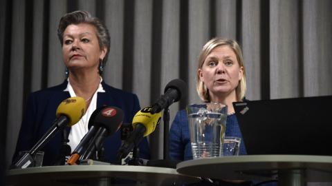 S ställer språkkrav på asylsökande inför höstens val. Bild: Tengborg /TT