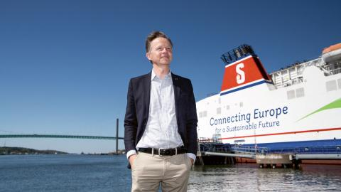 Erik Lewenhaupt är hållbarhetschef inom Stena Line. Bild: Christopher Kullenberg Rothvall