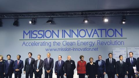 Ministermötet presenterades under klimatkonferensen i Paris 2015 och genomfördes första gången året efter. Årets möte är det tredje, MI-3. Bild: TT/AP