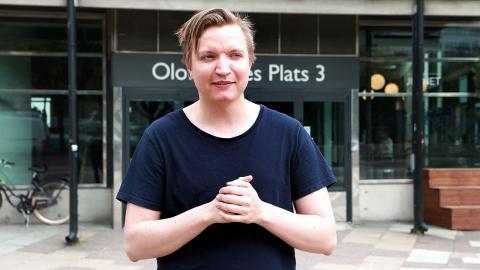 Håkan Bernhardsson, 27, har tagit initiativ till att starta upp svenska Momentum. Utöver sitt politiska engagemang pluggar han till en master i statsvetenskap på Göteborgs universitet.  Bild: Elina Bratt Lejring