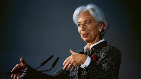 IMF:s ledare  Christine Lagarde.