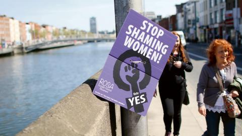 På fredag ska Irland rösta om att avskaffa abortförbudet.  Bild: Ursula Nichoill