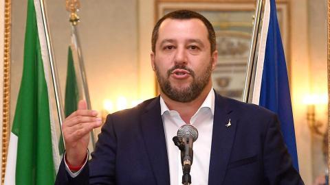 Matteo Salvini. Bild: Luca Zennaro/AP/TT