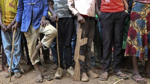 Sydsudan. Över 300 barnsoldater släpptes från beväpnade grupper i den krigsdrabbade regionen Yambio i februari i år. Inbördeskrigets har nu pågått i fem år. Bild: Sam Mednick