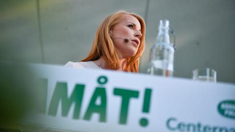 Annie Lööf levererar retorik, men talar tyst om sin politik. Bild: Vilhelm Stokstad/TT