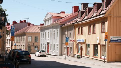 En gammal arbetarstadsdel där det nu mest bor unga akademiker Bild: Anja Bergdahl.