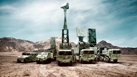 Saabs markbaserade radarsystem: Giraffe 1X, Arthur, Giraffe AMB, Giraffe 4A and Giraffe 8A.