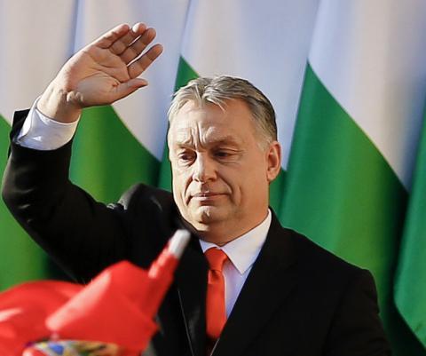 Det auktoritära och nationalistiska ungerska regeringspartiet Fidesz, med Viktor Orbán i spetsen, anses vara en förebild för SD och många ledande SD-profiler.  Bild: Darko Vojinovic