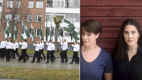 Nordiska motståndsrörelsen (NMR) demonstrerade i Ludvika på 1 maj. Bild: Ulf Palm/TT