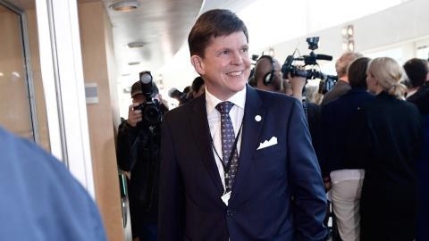 Andreas Norlén vid riksdagens öppnande. Foto: Stina Stjernkvist/TT