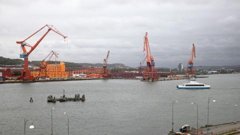 Dockan, som tidigare var ett självklart inslag längs Norra Älvstranden är nu borta, men under ytan finns spår av varvsverksamheten i form av miljögifter. Foto: Christian Egefur