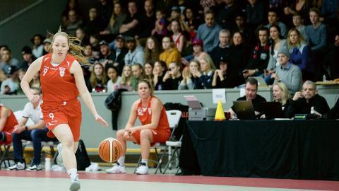 Högsbo Baskets Natalie Roslund.  Bild: Michael Erichsen/Bildbyrån.