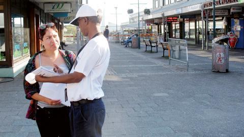 Said Abdellah var en av Västra Hisingens fem demokratiambassadörer. Bild: Sanna Arbman Hansing