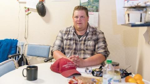Karl Gustav Nilsson, Kommunistiska partiet, tog sig in i Ludvika kommunfullmäktige.  Bild: Carina Heed