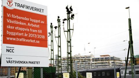 På flera platser i Göteborg håller man på att förbereda bygget av Västlänken..  Bild :Annelie Moran
