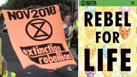 Extinction rebellion protesterar i London, augusti 2018. Bilder: Skärmdumpar