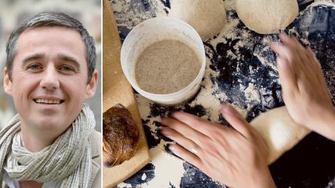 """""""Det är jobbigt för oss bagare som jobbar med kvalitet och bra råvaror när vi ser att folk blir vilseledda"""", säger bagaren Sébastien Boudet. Bild: Janerik Henriksson / Fredrik Sandberg/TT"""