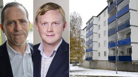 Daniel Helldén (MP) / Dennis Wedin (M). Bilder: Henrik Montgomery/TT / Stockholm.se / Janerik Henriksson/TT