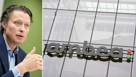 """Ambea's vd Fredrik Gren håller presskonferens med anledning av köpet av Aleris verksamhet i Sverige, Norge och Danmark. """"Detta är en drömaffär för mig"""", säger han.  Bild: Pontus Lundahl/TT"""