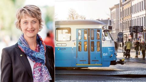 Ulrika Frick. trafiknämndens ordförande.  Bild: Catharina Fyrberg