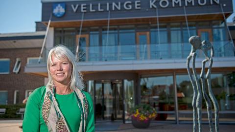 Carina Wutzler (M), kommunstyrelsens ordförande i Vellinge, är kritisk mot Länsstyrelsens beslut och anser att planmonopolet borde gälla. Bild: Björn Lindgren/TT