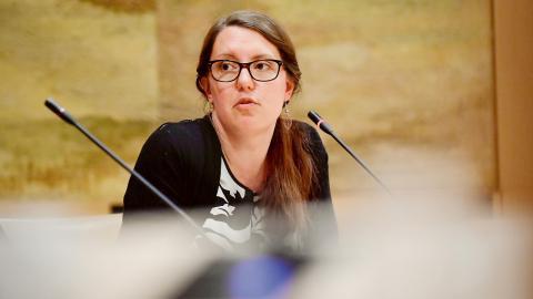 Johanna Mannung är en av kvinnorna bakom metoo-uppropet #teknisktfel. Hon är civilingenjör och arbetar med it-säkerhet hos polisen.  Bild: Alexander Larsson Vierth/TT