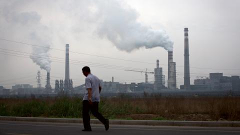 I år förväntas Kina öka koldioxidutsläppen med fem procent.  Bild: Andy Wong/AP