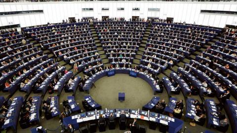 EU-parlamentet, Strasbourg. Foto: TT/AP