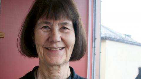 Gunilla Lundgren är författare. Bild: Annie Hellquist
