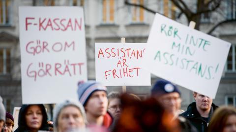 En nyutgiven antologi tar upp forskningen kring personlig assistans. Bild: Janerik Henriksson/TT