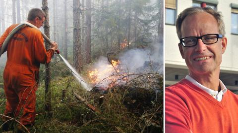 Skogsbrand i Västmanland 2014 / Rolf Lidskog, Örebo universitet. Bild: Fredrik Persson/TT / Örebro universitet