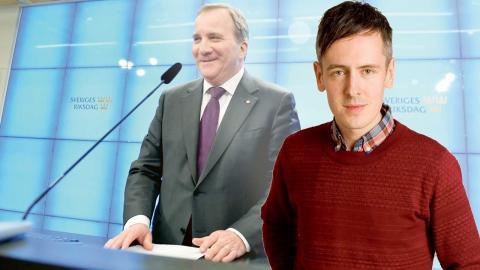 """""""Progressiv förändring kommer inte att ske i riksdagen denna mandatperiod. Det är verkligheten"""", skriver Andreas Gustavsson. På bilden statsminister Stefan Löfven (S) efter sitt möte med riksdagens talman.   Foto: Anders Wiklund / TT"""