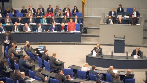 Språkröret för De Gröna, Robert Habeck, Angela Merkel och Tysklands president Frank-Walter Steinmeier hör till de många politiker som drabbades när tyska Bundestag blev hackat.  Bild: TT