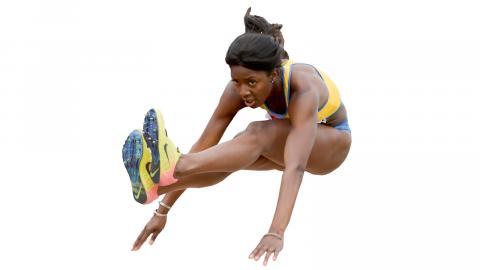 Khaddi Sagnia – medaljhopp i Doha.