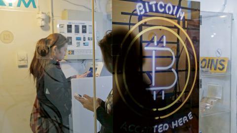 Bitcoin-bankomat i Hong Kong.  Bild: Kin Cheung/AP