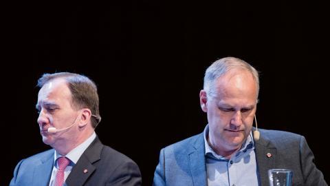 Flera av de socialdemokrater som Dagens ETC pratat med tror att Stefan Löfven kan blidka de borgerliga samarbetspartierna och samtidigt ge Vänsterpartiet så mycket inflytande att partiet släpper igenom honom i omröstningen.  Bild: Erik Mårtensson/TT