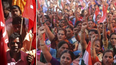 Demonstrationer i Mumbai, Indien, tisdag den 8 januari. Bild: Rafiq Maqbool/AP/TT