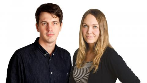 Eigil Söderin, tf. chefredaktör Dagens ETC och Maria Holm, klimatredaktör Dagens ETC.