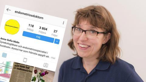 Anna-Sofia Melin, läkaren bakom Instagram-kontot Endometriosdoktorn. Bild: Kickan Nicolic