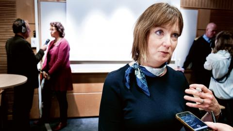 I onsdags kväll valde Socialdemokraternas kommunfullmäktigegrupp Marina Johansson som ny tillfällig gruppledare. Bild: Frida Winter/ TT